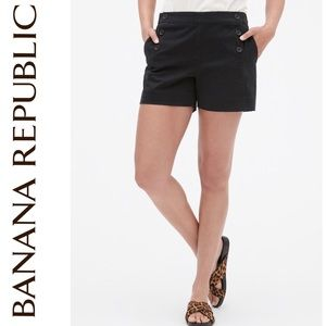 Banana Republic Side Zip Sailor Shorts Size 10